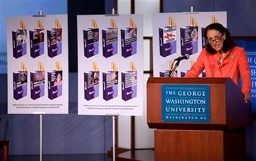 FDA Commissioner Margaret Hamburg speaks during a news conference in Washington, Wednesday, Nov. 10, 2010, to release proposed warning graphics that will appear on cigarette packaging.   (AP Photo/Evan Vucci) By Evan Vucci