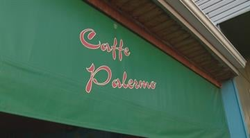 Authorities are searching for four men who robbed the Caffe Palermo early Monday morning. By Stephanie Baumer