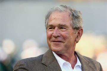 WACO, TX - AUGUST 31:  Former U.S. President George W. Bush attends a game between the Southern Methodist Mustangs and the Baylor Bears at McLane Stadium on August 31, 2014 in Waco, Texas.  (Photo by Ronald Martinez/Getty Images) By Ronald Martinez