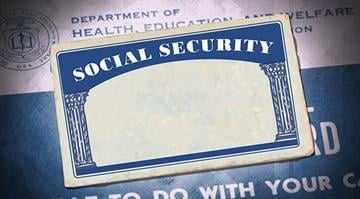 An illustration showing a Social Security Card. By Stephanie Baumer