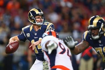 ST. LOUIS, MO - NOVEMBER 16: Shaun Hill #14 of the St. Louis Rams passes against the Denver Broncos in the first quarter at the Edward Jones Dome on November 16, 2014 in St. Louis, Missouri.  (Photo by Dilip Vishwanat/Getty Images) By Dilip Vishwanat