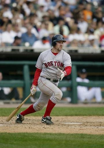 DETROIT - AUGUST 8:  Bill Mueller #11 of the Boston Red Sox hits against the Detroit Tigers on August 8, 2004 at Comerica Park in Detroit, Michigan.  The Red Sox defeated the Tigers 11-9.  (Photo by Tom Pidgeon/Getty Images) By Tom Pidgeon