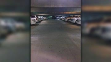 Mark Paffrath posted this picture showing Department of Homeland Security vehicles parked at a hotel where he worked. A few days after the posting, Paffrath says he was fired. By Courtesy Mark Paffrath
