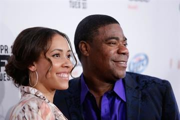 "NEW YORK, NY - APRIL 09:  Megan Wollover and actor/comedian Tracy Morgan attend the FX Networks Upfront screening of ""Fargo"" at SVA Theater on April 9, 2014 in New York City.  (Photo by Jemal Countess/Getty Images) By Jemal Countess"