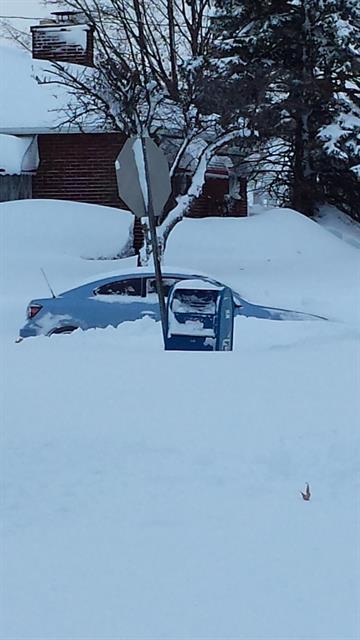 Upwards of 7.5 feet of lake effect snow fell on portions of the Buffalo, New York area Tuesday, Nov. 18, 2014. By Stephanie Gallman