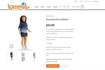 Lammily is a Barbie-like doll modeled on the dimensions of an average woman. By From Lammily