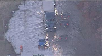 Skyzoom 4 was over a 12 inch water main break on Riverview between Spring Garden and Chambers. By Stephanie Baumer