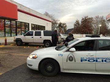 Gas station where shooting began on West Florissant By Daniel Fredman