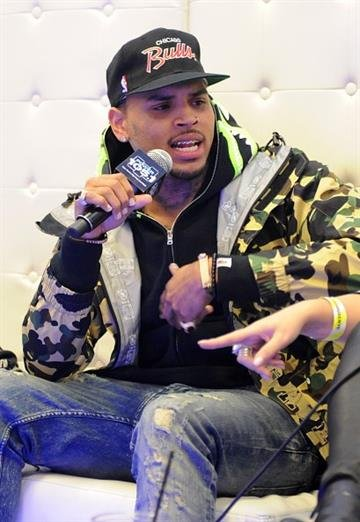 NEW YORK, NY - OCTOBER 30:  Chris Brown is interviewed backstage at Power 105.1's Powerhouse 2014 at Barclays Center of Brooklyn on October 30, 2014 in New York City.  (Photo by Brad Barket/Getty Images for Power 105.1) By Brad Barket