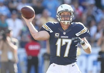 SAN DIEGO, CA - NOVEMBER 23:  Quarterback Philip Rivers #17 of the San Diego Chargers throws a pass against the St. Louis Rams at Qualcomm Stadium on November 23, 2014 in San Diego, California.  (Photo by Stephen Dunn/Getty Images) By Stephen Dunn