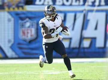 SAN DIEGO, CA - NOVEMBER 23:  Running back Tre Mason #27 of the St. Louis Rams carries the ball against the San Diego Chargers at Qualcomm Stadium on November 23, 2014 in San Diego, California.  (Photo by Stephen Dunn/Getty Images) By Stephen Dunn