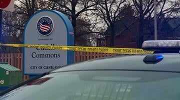 A Cleveland police officer responding to a call about a person with a gun fatally wounded a 12-year-old boy brandishing what turned out to be an air gun that looked very much like a real firearm, police said early Sunday. By Stephanie Baumer