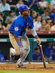 Chicago Cubs' Starlin Castro hits a single during the fifth inning of an MLB baseball game against the Houston Astros, Wednesday, July 28, 2010, in Houston. (AP Photo/Dave Einsel) By Dave Einsel