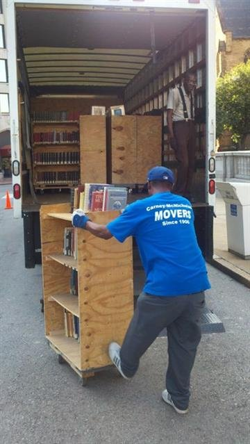 They're moving out some two-million books and millions of other items from the downtown St. Louis library. By Afton Spriggs