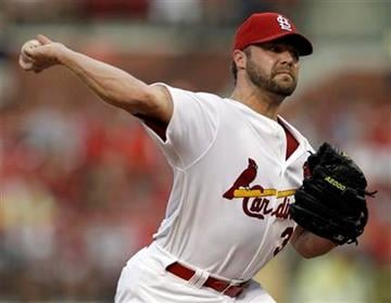 St. Louis Cardinals starting pitcher Jake Westbrook throws during the second inning of a baseball game against the Houston Astros on Monday, Aug. 2, 2010, in St. Louis. (AP Photo/Jeff Roberson) By Jeff Roberson