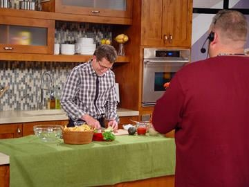 Chef Rick Bayless prepares food for the show. By KMOV Web Producer