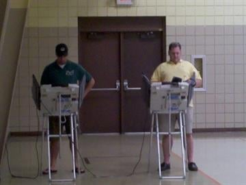 St. Louis residents vote at a polling station on Hampton and Pernod on Tuesday, Aug. 3, 2010. By KMOV Web Producer