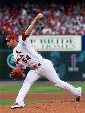 St. Louis Cardinals starting pitcher Jaime Garcia throws during the first inning of a baseball game against the Houston Astros on Tuesday, Aug. 3, 2010, in St. Louis. (AP Photo/Jeff Curry) By Jeff Curry