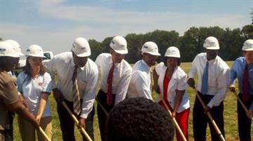 St. Louis City leaders break ground at a ceremony for the new O'Fallon Recreational Center in north St. Louis on Wednesday, August 4, 2010. By KMOV Web Producer