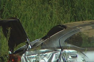 Two-car crash on Route 158 near Columbia, Illinois. It happened around 2:30 a.m. on Thursday. By Afton Spriggs