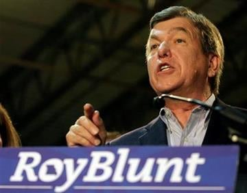 U.S. Rep. Roy Blunt, R-Mo, speaks at his watch party after winning the Republican U.S. Senate primary, Tuesday, Aug. 3, 2010 in St. Louis. (AP Photo/Tom Gannam) By Tom Gannam