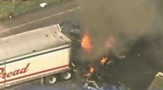 Two people are dead after three separate crashes on Interstate 70 in Illinois.Several tractor-trailers and a couple of other vehicles were involved in the accidents. By Afton Spriggs