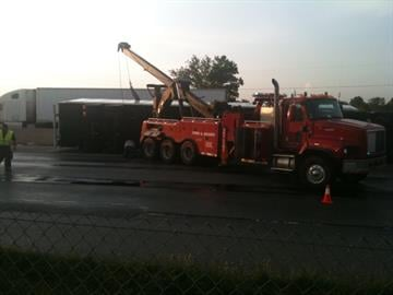Severe winds from a brief storm in St. Charles County knocked a tractor-trailer over and onto a car on Highway 70 at Highway A in Wentzville. By KMOV Web Producer