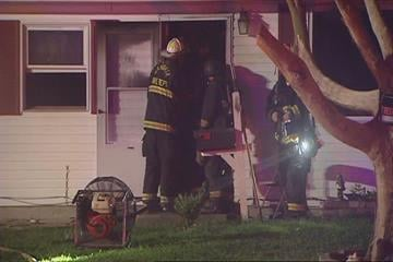 Firefighters in the Metro-East battle an early morning house fire.The flames broke out just after 2:00 a.m. on Wednesday on St. Thomas just east of Route 3 in Cahokia, Illinois. By Afton Spriggs