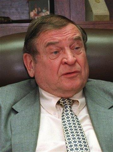 FILE - In this Jan. 31, 1994 file photo former Illinois  Rep. Dan Rostenkowski is seen in Chicago. Rostenkowski, a powerful Democrat who shaped tax policy in the 1980s but later went to prison, has died. (AP Photo/Charles Bennett, File) By Charles Bennett
