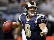 St. Louis Rams quarterback Sam Bradford drops back to pass during the third quarter of a preseason NFL football game against the Minnesota Vikings Saturday, Aug. 14, 2010, in St Louis. (AP Photo/Seth Perlman) By Seth Perlman