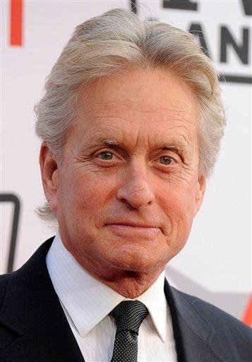 FILE - In this June 10, 2010 file photo, actor Michael Douglas arrives at the AFI Lifetime Achievement Awards honoring Mike Nichols, presented by TV Land at Sony Pictures Studios in Culver City, Calif.  (AP Photo/Chris Pizzello, file) By Chris Pizzello
