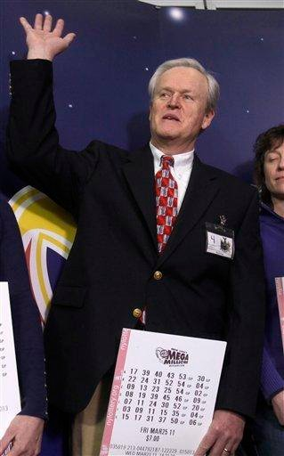 Mike Barth, who shared in the $319-million Mega Millions lottery win, is introduced during a news conference in Schenectady, N.Y., Thursday, March 31, 2011. (AP Photo/Mike Groll) By Mike Groll