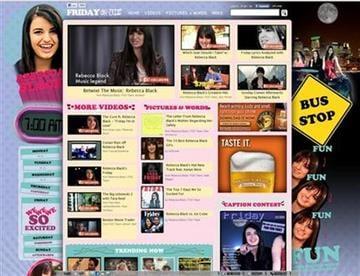 """In this screen image released by FunnyOrDie.com, the homepage for the popular comedy video website """"Funny or Die,"""" is shown with an April Fools? Day redesign featuring teenage viral video star Rebecca Black. (AP Photo/FunnyOrDie.com) By KMOV Web Producer"""