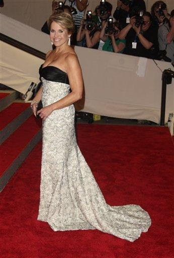Katie Couric arrives at the Metropolitan Museum of Art Costume Institute gala, Monday, May 3, 2010 in New York.  (AP Photo/Peter Kramer) By Peter Kramer