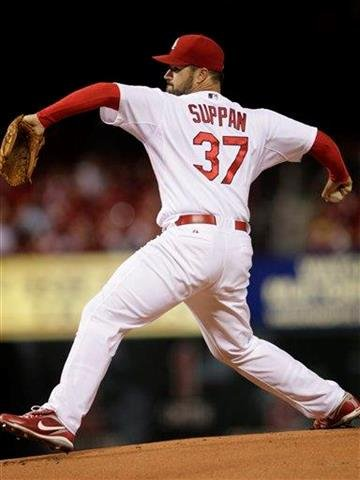 St. Louis Cardinals starter Jeff Suppan pitches in the first inning of a baseball game against the Pittsburgh Pirates, Tuesday, Sept. 28, 2010 in St. Louis. (AP Photo/Tom Gannam) By Tom Gannam