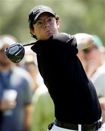 Rory McIlroy of Northern Ireland watches his tee shot on the 18th hole during the first round of the Masters golf tournament Thursday, April 7, 2011, in Augusta, Ga. (AP Photo/Chris O'Meara) By Chris O'Meara