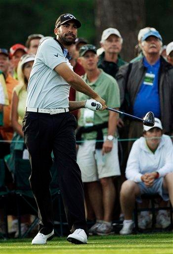 Alvaro Quiros of Spain watches his tee shot on the 17th hole during the first round of the Masters golf tournament Thursday, April 7, 2011, in Augusta, Ga. (AP Photo/Matt Slocum) By Matt Slocum