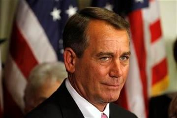 House Speaker John Boehner of Ohio, announces that an agreement to avert a government shutdown was reached at the U.S. Capitol in Washington, on Friday, April 8, 2011. (AP Photo/Jacquelyn Martin) By Jacquelyn Martin
