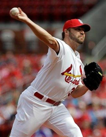 St. Louis Cardinals starting pitcher Jake Westbrook throws during the first inning of a baseball game against the San Diego Padres, Saturday, April 2, 2011, in St. Louis. (AP Photo/Jeff Roberson) By Jeff Roberson