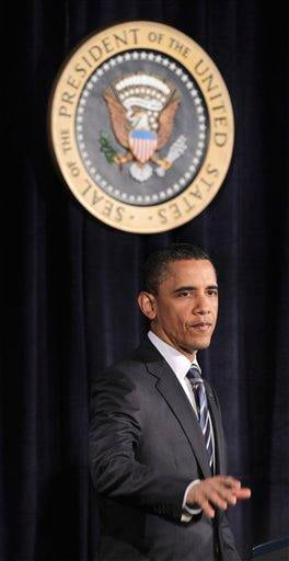 President Barack Obama prepares to walk off stage after outlining his fiscal policy during an address at George Washington University in Washington, Wednesday, April 13, 2011. (AP Photo/Pablo Martinez Monsivais) By Pablo Martinez Monsivais
