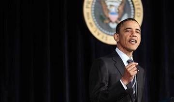 President Barack Obama outlines his fiscal policy during an address at George Washington University in Washington, Wednesday, April 13, 2011.  (AP Photo/Pablo Martinez Monsivais) By Pablo Martinez Monsivais