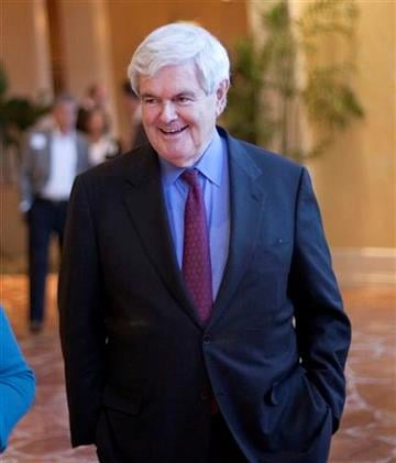 Former House Speaker Newt Gingrich arrives for a 2012 presidential exploratory committee fundraising event Wednesday, April 13, 2011 in Atlanta. (AP Photo/David Goldman) By David Goldman