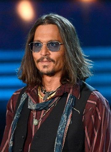 LOS ANGELES, CA - FEBRUARY 10:  Actor Johnny Depp speaks onstage at the 55th Annual GRAMMY Awards at Staples Center on February 10, 2013 in Los Angeles, California.  (Photo by Kevork Djansezian/Getty Images) By Kevork Djansezian