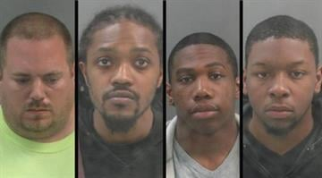 William Draper, Princeton White, Charles Roberson and Blake Noise were charged with multiple counts of felony theft. By Dan Mueller