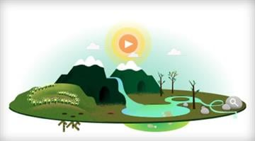 Google doodle on Earth Day 2013. / Google By Brendan Marks