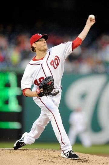 WASHINGTON, DC - APRIL 23:  Ross Detwiler #48 of the Washington Nationals pitches in the second inning against the St. Louis Cardinals at Nationals Park on April 23, 2013 in Washington, DC.  (Photo by Greg Fiume/Getty Images) By Greg Fiume