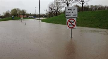 Flooding on Interstate 70 near Highland, Ill. By Brendan Marks