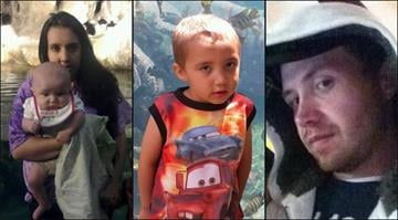Four of the five Manchester, Illinois murder victims. From left to right: Brantley Ralston, 1, Brittney Luark, 23, Nolan Ralston, 5, and James Ralston, 29. By Belo Content KMOV