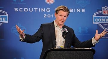 St. Louis Rams General Manager Les Snead speaks to reporters at the 2013 NFL Scouting Combine. By Belo Content KMOV