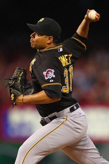 ST. LOUIS, MO - APRIL 26: Reliever Jeanmar Gomez #30 of the Pittsburgh Pirates pitches against the St. Louis Cardinals at Busch Stadium on April 26, 2013 in St. Louis, Missouri.  (Photo by Dilip Vishwanat/Getty Images) By Dilip Vishwanat